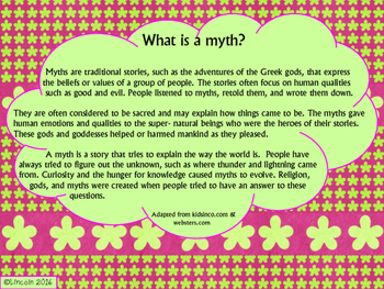 Myths Mini-SCOOT Freebie