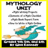 Myths Mythology Unit Writing Projects, Myth Writing Outline, and More
