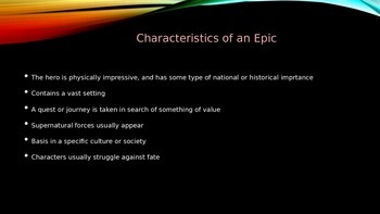 Myths and Epics PowerPoint