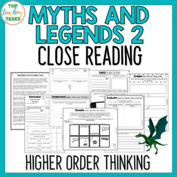 Myths and Legends 2 Close Reading Comprehension Passages and Questions US NZ