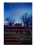 Myths and Legends: A research and Venn diagram activity