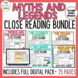 Myths and Legends Close Reading Comprehension Passages and