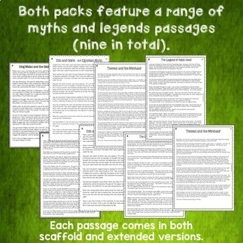 Myths and Legends BUNDLE - Close Reading Texts with Higher Order Thinking US/NZ