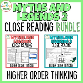 Myths and Legends BUNDLE Close Reading Texts with Higher Order Thinking US NZ