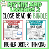 Myths and Legends Traditional Literature BUNDLE Higher Order Thinking