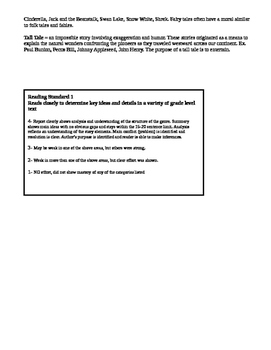 Myths and Legends Book Report Rubric and Directions