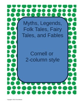 Myths and Legends Cornell Notes