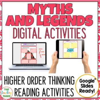 Myths and Legends Interactive Paperless Digital Reading Activities Google Drive®