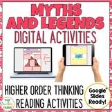 Myths and Legends Digital Reading Comprehension Activity for Google Slides