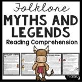 Myths and Legends Reading Comprehension Worksheet