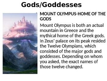 Myths and Mythology Notes Presentation