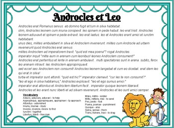Myths in Latin : Androcles and the Lion