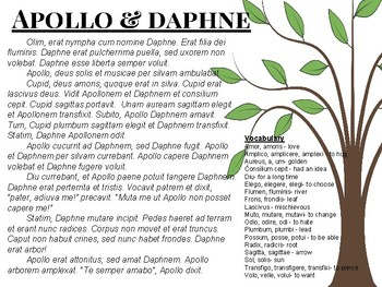 Myths in Latin : Apollo and Daphne