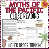 Myths and Legends Pacific Islands Reading Comprehension Pa