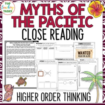 Myths and Legends Pacific Islands Reading Comprehension Passages and Questions