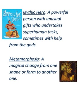 Myths/Folktales Key Terms