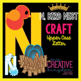 N - Bird Nest Upper Case Alphabet Letter Craft