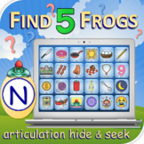 N Find 5 Frogs - Articulation Activity - Teletherapy - Dig