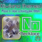 N = Necklace {Kiwiana Themed 'Make & Take' Alphabet Set}