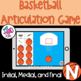N Words Initial Medial Final Basketball Articulation Game