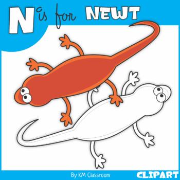 N is for Newt Clip Art