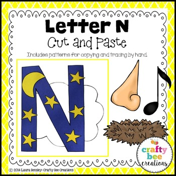 Letter N (Night) Cut and Paste