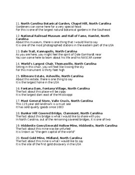 N is for North Carolina state facts