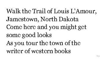 N is for North Dakota flash cards
