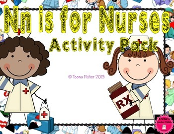 Letter of the Week - N is for Nurse Preschool Kindergarten Alphabet Pack