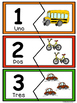 Nύmeros  0-10- Rompecabezas  de Medios de Transporte