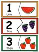 Nύmeros  0-10- Rompecabezas  de comidas