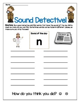 N sound Write The Room Center Worksheet