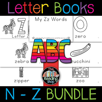 N to Z Letter Books BUNDLE - Alphabet Books