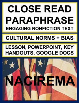 NACIREMA: Interesting Article to Teach Paraphrase & Author's Purpose
