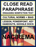 NACIREMA: Interesting Article to Teach Paraphrase & Author's Purpose