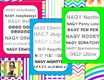 NAGY Fonts (Personal or Commercial)