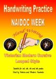 NAIDOC Week - Handwriting NAIDOC Themed Passages - Victorian Modern Cursive Join