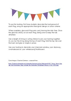 NAIDOC Week bunting (black and white)