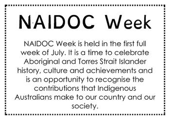 NAIDOC Week sign