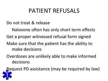 NALOXONE EMERGENCY CARE OF OPIOID OVERDOSE