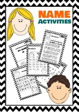 NAME ACTIVITIES For Kindergarten and Pre-K