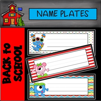 Monsters Editable Name Plates