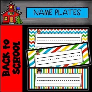 Editable Name Plates Kids Theme
