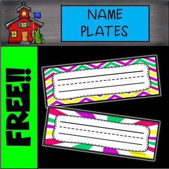 NAME PLATES: Editable Name Plates with Bright Colors