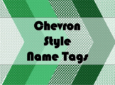 STUDENT NAME TAGS / NAME PLATES - Chevron Style Name Labels / Signs