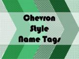 STUDENT NAME TAGS / NAME PLATES - Chevron Style Name Label