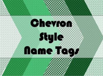 STUDENT NAME TAGS / NAME PLATES - Chevron Style Name Label