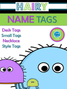 NAME TAGS ~ EDITABLE (Super CUTE Hairy BUGS!)