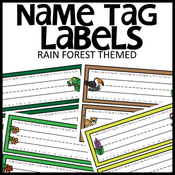 NAME TAGS (RAIN FOREST)