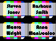 STUDENT NAME TAGS / NAME PLATES - Throwback TV Test Pattern Name Labels / Signs